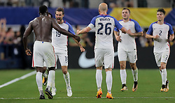 July 22, 2017 - Arlington, TX, USA - Arlington, TX - Saturday July 22, 2017: Jozy Altidore celebrates his goal during a 2017 Gold Cup Semifinal match between the men's national teams of the United States (USA) and Costa Rica (CRC) at AT&T stadium. (Credit Image: © John Dorton/ISIPhotos via ZUMA Wire)