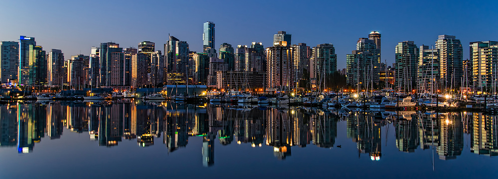 Vancouver Skyline at Sunrise, Coal Harbour (#1)