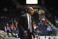 "Ole Miss vs. TCU coach Trent Johnson at the C.M. ""Tad"" Smith Coliseum in Oxford, Miss. on Thursday, December 4, 2014. TCU won 66-54."
