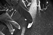 A shot of some trendy trainers, Notting Hill Carnival, London, 1989