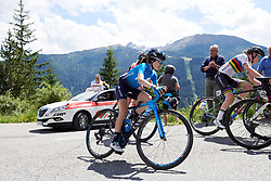 Eider Merino (ESP) on the final climb of Stage 5 of 2019 Giro Rosa Iccrea, a 88.8 km road race from Ponte in Valtellina to Lago di Cancano, Italy on July 9, 2019. Photo by Sean Robinson/velofocus.com
