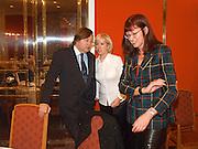 David Mellor, Sally Greene and Janet Street-Porter andOld Vic Lesley Garrett Literary Lunch. Savoy. 9 March 2001. © Copyright Photograph by Dafydd Jones 66 Stockwell Park Rd. London SW9 0DA Tel 020 7733 0108 www.dafjones.com