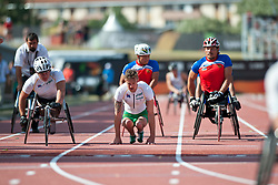 Behind the scenes, Sportsmanship, , 4x400m Relay, T53/54, 2013 IPC Athletics World Championships, Lyon, France