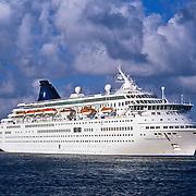Cruise ship waiting for passengers. Playa del carmen. Quintana Roo, Mexico.