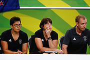 Head Coach Janine Southby of New Zealand looks on. Gold Coast 2018 Commonwealth Games, Netball, New Zealand Silver Ferns v England, Gold Coast Convention and Exhibition Centre, Gold Coast, Australia. 11 April 2018 © Copyright Photo: Anthony Au-Yeung / www.photosport.nz