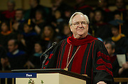 Chancellor Jerry Falwell, Sr. addresses parents, students, and faculty during the 2003 Commencement exercises.