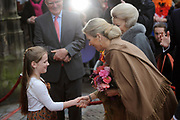 Viering 300 jaar Vrede van Utrecht  in de Domkerk.<br /> <br /> Celebrating 300 years in the Peace of Utrecht in the Dom Church.<br /> <br /> Op de foto: Prinses Maxima  / Princess Maxima