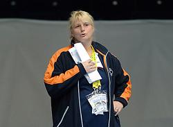 28-05-2006 JUDO: EUROPEES KAMPIOENSCHAP: TAMPERE FINLAND<br /> Marjolein van Unen , coach trainer<br /> ©2006-WWW.FOTOHOOGENDOORN.NL
