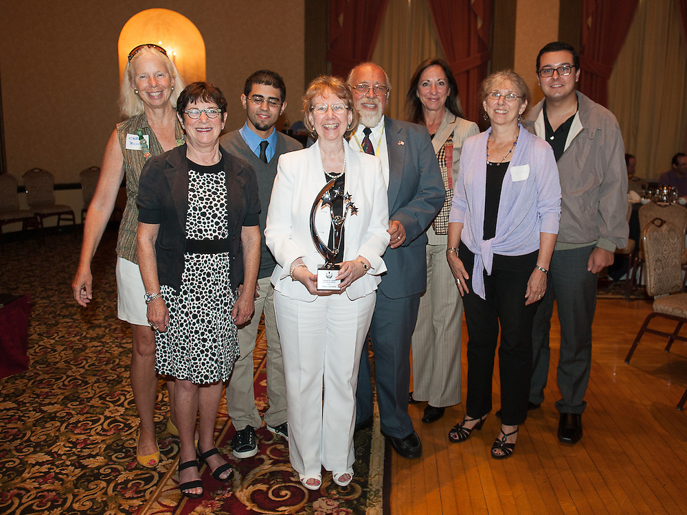 Nancy Carriuolo, president of Rhode Island College, received the George M. Cohan Ambassador Award at the Rhode Island Film Forum, in Providence, RI on August 9, 2012. The forum was an event held as a part of the of the Rhode Island International Film Festival,