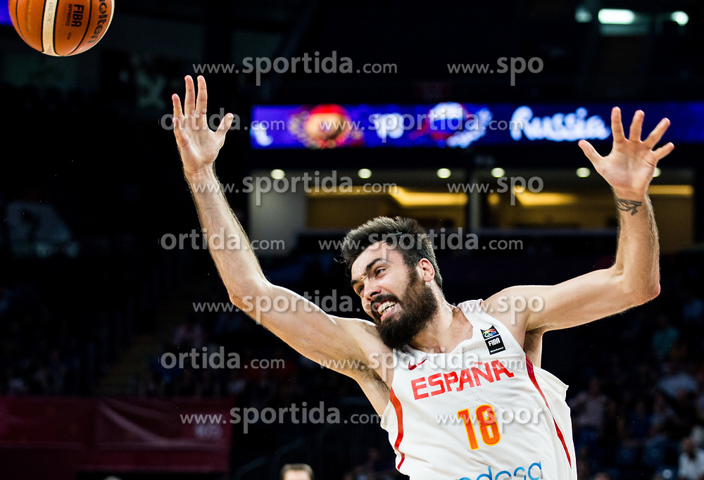 Pierre Oriola of Spain during basketball match between National Teams  Spain and Russia at Day 18 in 3rd place match of the FIBA EuroBasket 2017 at Sinan Erdem Dome in Istanbul, Turkey on September 17, 2017. Photo by Vid Ponikvar / Sportida