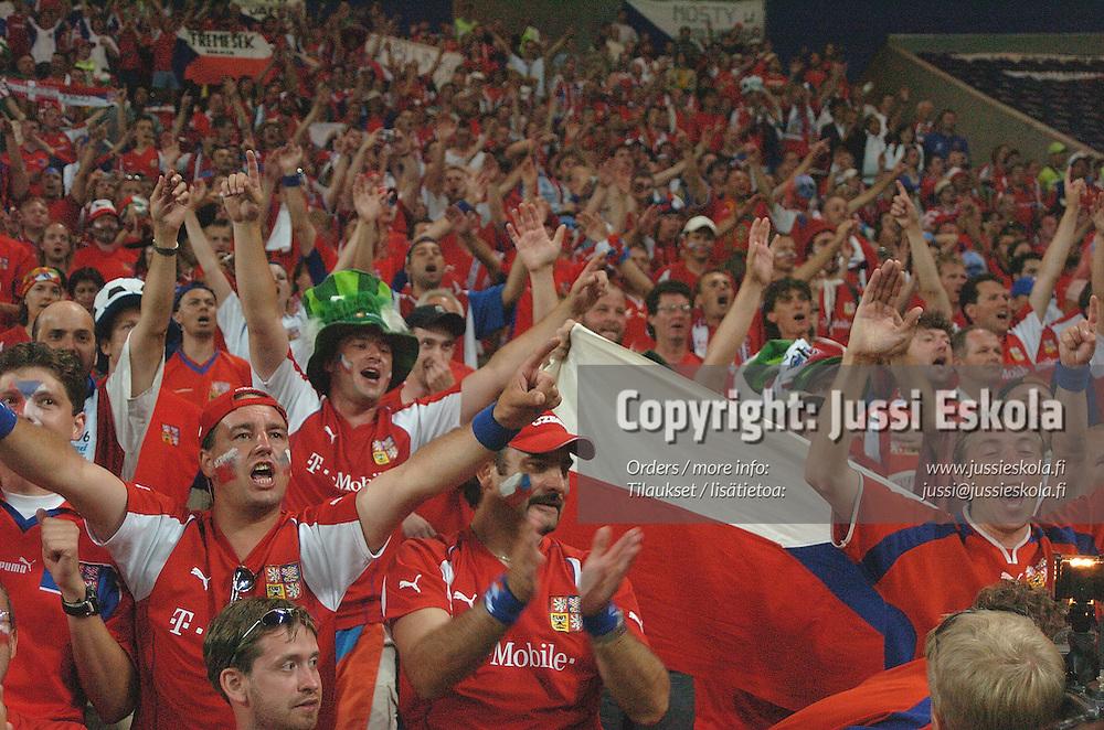 Czeh fans 27.6.2004. Denmark-Czech Republic.&amp;#xA;Euro 2004.&amp;#xA;Photo: Jussi Eskola<br />