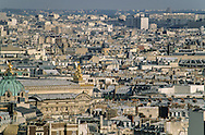 France. Paris. 9th district. elevated view. Paris cityscape  view from the church bell tower  St Paul Saint Louis ,   /