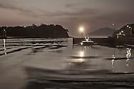 waterfront dawn Honmura Naoshima Island Japan