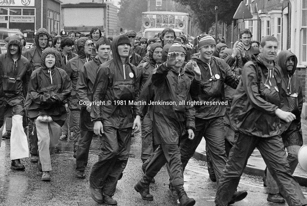 Peoples March for Jobs, Yorkshire to London. Leicester to Market Harborough 18/05/1981