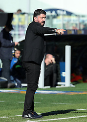 December 26, 2018 - Frosinone, Italy - Frosinone v Ac Milan - Serie A .Gennaro Gattuso manager of Milan at Benito Stirpe Stadium in Frosinone, Italy on December 26, 2018. (Credit Image: © Matteo Ciambelli/NurPhoto via ZUMA Press)