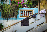 VAN HA, VIETNAM - CIRCA SEPTEMBER 2014:  Entrance of house at the Lang Gom Tho Ha village. The village belongs to the Van Ha commune, it is located 50km away from Hanoi in Northern Vietman