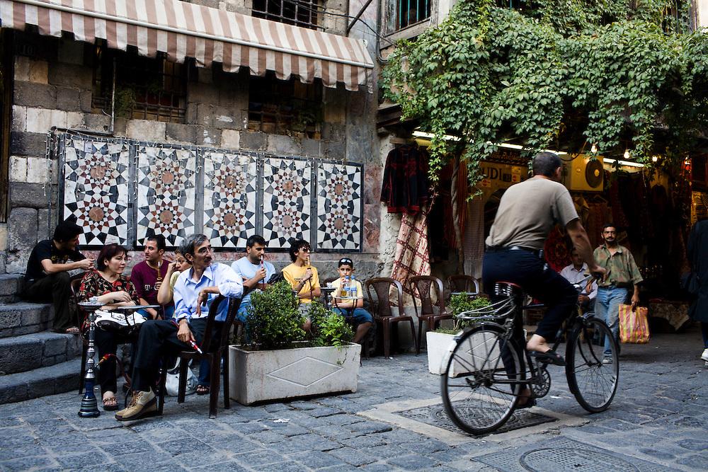 Syria, Damascus, souq street.