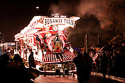 In 2010, the overall champion at Bridgwater Carnival, was Gremlins, as in 2009, with their Wild Bill's Runaway Train entry. This photo doesn't show the movement, but it does show the smoke production.