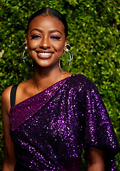 Justine Skye at the CFDA/Vogue Fashion Fund 15th Anniversary Event in Brooklyn, New York.