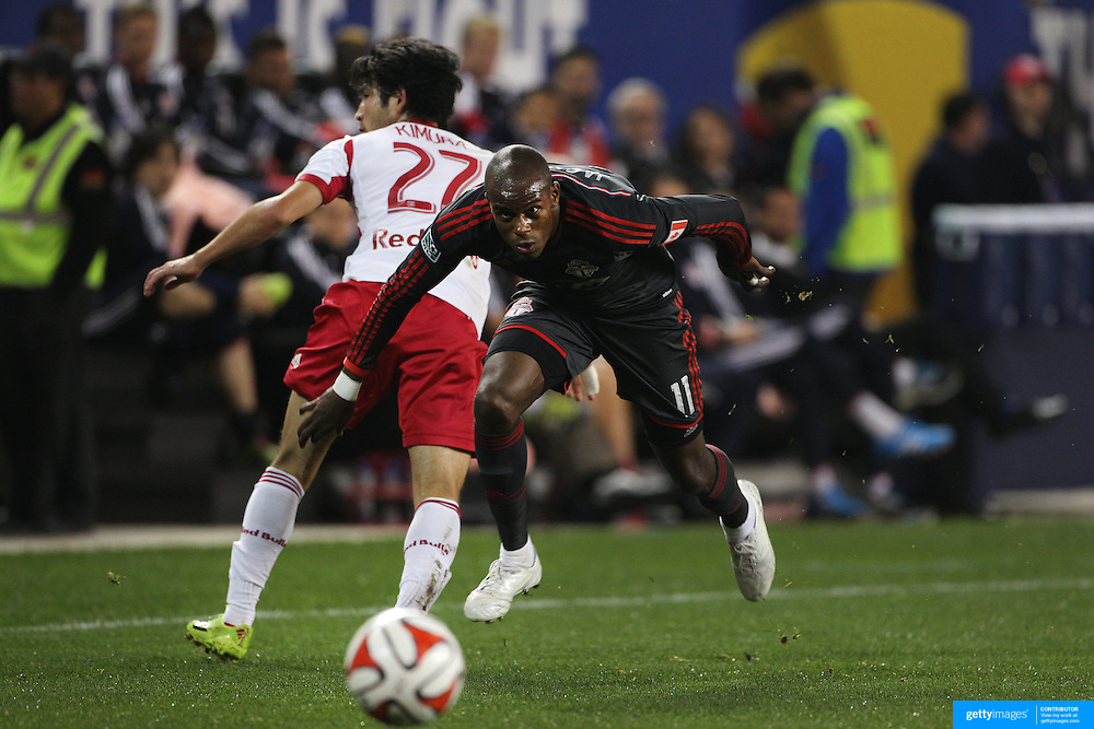 Jackson, Toronto FC, in action during the New York Red Bulls Vs Toronto FC, Major League Soccer regular season match at Red Bull Arena, Harrison, New Jersey. USA. 11th October 2014. Photo Tim Clayton