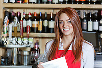 Portrait of a beautiful young waitress