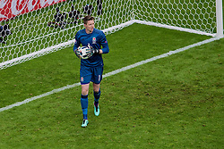 LENS, FRANCE - Thursday, June 16, 2016: Wales goalkeeper Wayne Hennessey in action against England during the UEFA Euro 2016 Championship Group B match at the Stade Bollaert-Delelis. (Pic by Paul Greenwood/Propaganda)