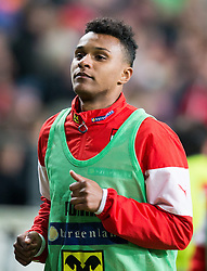 30.05.2014, Tivoli Stadion, Innsbruck, AUT, Fussball Testspiel, Oesterreich vs Island, im Bild Valentino Lazaro (AUT) // Austrian's Valentino Lazaro warming up during the International Friendly between Austria and Iceland at the Tivoli Stadion in Innsbruck, Austria on 2014/05/30. EXPA Pictures © 2014, PhotoCredit: EXPA/ Johann Groder