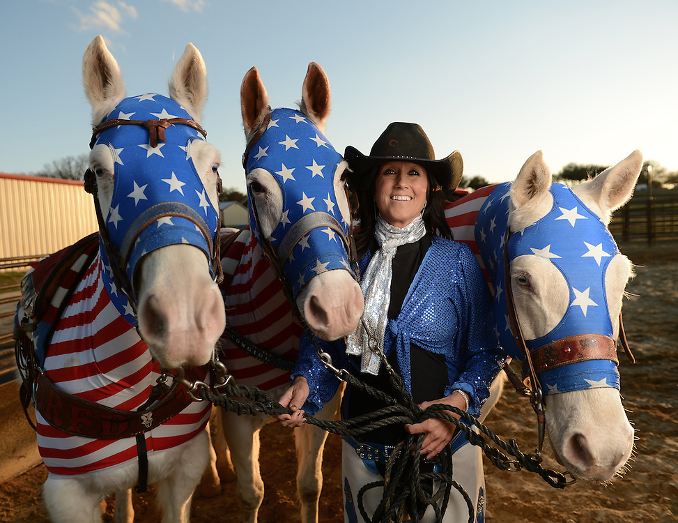 The leader of the Cowgirl Chicks poses with three friends as part of a session with editorial photographer Kevin Brown.