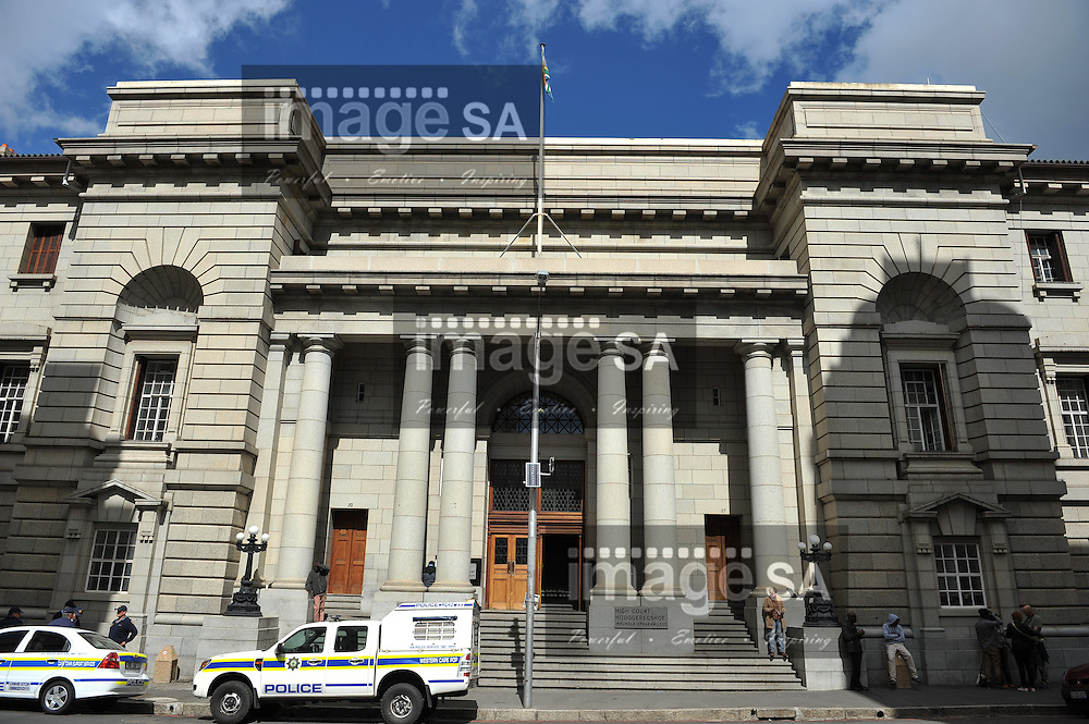 CAPE TOWN, SOUTH AFRICA - Wednesday 8 October 2014, a general view of the court building during Day 2 of the Shrien Dewani trial at the Cape High Court before Judge Jeanette Traverso. Dewani is caused of hiring hit men to murder his wife, Anni. Anni Ninna Dewani (n&eacute;e Hindocha; 12 March 1982 &ndash; 13 November 2010) was a Swedish woman who, while on her honeymoon in South Africa, was kidnapped and then murdered in Gugulethu township near Cape Town on 13 November 2010 (wikipedia).<br /> Photo by Roger Sedres
