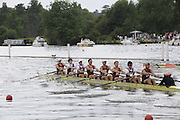 Henley, Great Britain.  M8+, Ladies Challenge Plate, Leander Club 'A' [Bucks], and Harvard University, USA [Berks], in their Semi-Final. Henley Royal Regatta. River Thames Henley Reach.  Royal Regatta. River Thames Henley Reach.  Saturday  02/07/2011  [Mandatory Credit  Intersport Images] . HRR