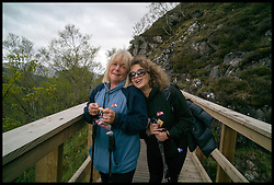 Image ©Licensed to i-Images Picture Agency. 30/05/2015. Fort William, Scotland,United Kingdom. Loose Women Stars L to R  Linda Robson, Nadia Sawalha, climb Ben Nevis for Climb with Ed in connection with the charity Children with Cancer. Picture by Andrew Parsons / i-Images