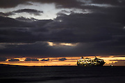 Maui. The Rhapsody of the Seas anchoring off Lahaina at dusk.