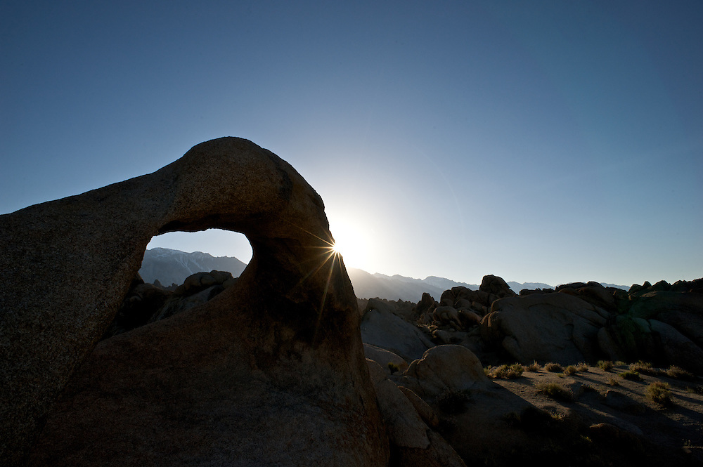 Mobias Arch and Late Light in the Alabama Foothills of the Eastern Sierra near Mt. Whitney