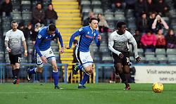 Leonardo Da Silva Lopes of Peterborough United gets away from Ollie Rathbone and Joe Bunney of Rochdale - Mandatory by-line: Joe Dent/JMP - 25/11/2017 - FOOTBALL - Crown Oil Arena - Rochdale, England - Rochdale v Peterborough United - Sky Bet League One