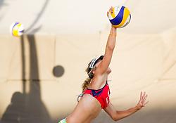 Simona Fabjan during Slovenian National Championship in beach volleyball Kranj 2012, on June 29, 2012 in Kranj, Slovenia. (Photo by Vid Ponikvar / Sportida.com)