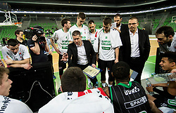 Aleksandar Saso Nikitovic, coach of Petrol Olimpija during basketball match between KK Petrol Olimpija and Mega Bemax in Round #15 of ABA League 2018/19, on January 13, 2019 in Arena Stozice, Ljubljana, Slovenia. Photo by Vid Ponikvar / Sportida