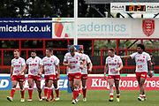 Hull Kingston Rovers half back Chris Atkin (24) scores a try and celebrates  during the Betfred Super League match between Hull Kingston Rovers and Leeds Rhinos at the Lightstream Stadium, Hull, United Kingdom on 29 April 2018. Picture by Mick Atkins.
