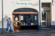 The energy shop, WREN community energy. Wadebridge, Cornwall. UK