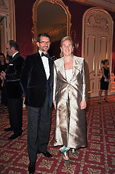 COUNT & COUNTESS MANFREDIE DELLA GHERARDESCA at a dinner hosted by HRH Prince Robert of Luxembourg in celebration of the 75th anniversary of the acquisition of Chateau Haut-Brion by his great-grandfather Clarence Dillon held at Lancaster House, London on 10th June 2010.