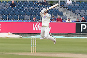 Brydon Carse batting against Muhammad Abbas during the Specsavers County Champ Div 2 match between Durham County Cricket Club and Leicestershire County Cricket Club at the Emirates Durham ICG Ground, Chester-le-Street, United Kingdom on 19 August 2019.