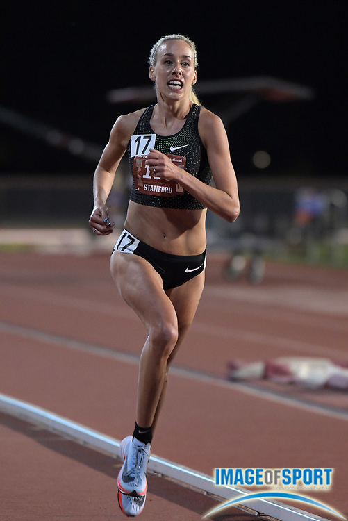 May 2, 2019; Stanford, CA, USA; Susan Krumins places second in the women's 10,000m in 31:23.81 during the 24th Payton Jordan Invitational at Cobb Track & Angell Field.