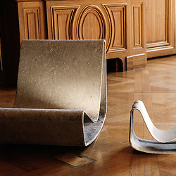 Chair « looping », 1954, from Willy Guhl - Edition Eternit, AG. The small one has been created for its 50th anniversary of its creation. Swiss design furniture's sale at the Artcurial Gallery. Paris, France. 4/24/2009. Photo: Antoine Doyen
