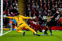 Sadio Mane of Liverpool misses a header - Mandatory by-line: Robbie Stephenson/JMP - 02/10/2019 - FOOTBALL - Anfield - Liverpool, England - Liverpool v Red Bull Salzburg - UEFA Champions League Group Stage