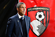Brighton and Hove Albion manager Chris Hughton before the Premier League match between Bournemouth and Brighton and Hove Albion at the Vitality Stadium, Bournemouth, England on 15 September 2017. Photo by Graham Hunt.