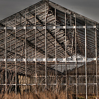 Een oude vervallen kas, An old and empty greenhouse,