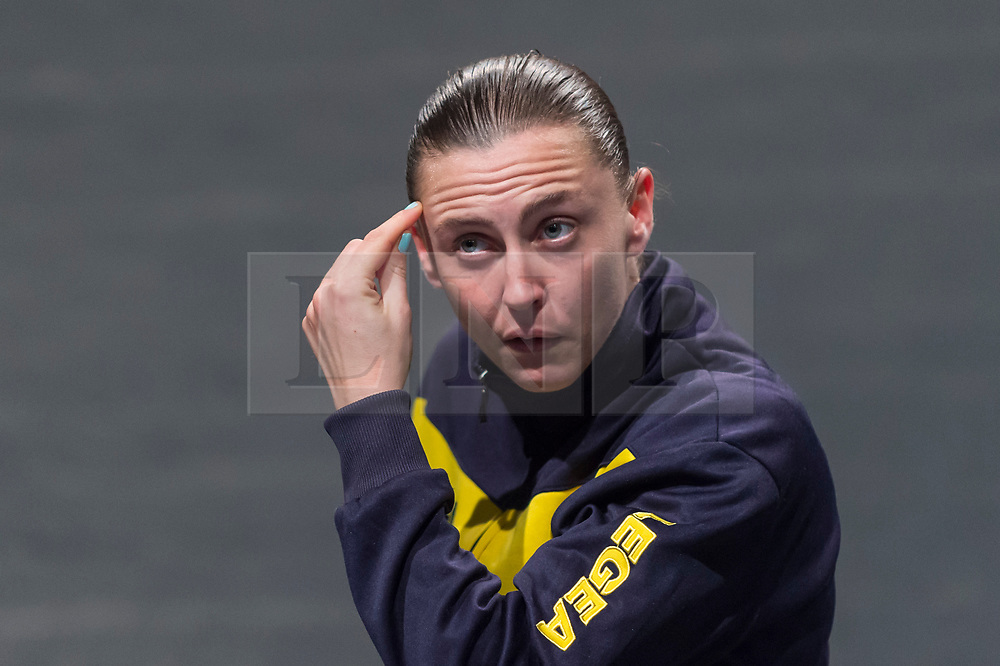 """CAPTION CORRECTION : Performance artist is Oona Doherty NOT Joss Carter © Licensed to London News Pictures. 14/10/2019. LONDON, UK.  Oona Doherty performs at a preview of show """"Hope Hunt and the Ascension into Lazarus""""  which is taking place at The Yard in East London, 14 to 16 October 219.  Doherty has defined the work as 'a distillation of the Male', and an attempt to deconstruct the stereotype of the disadvantaged urban male.  The show is part of this year's Dance Umbrella Festival. Photo credit: Stephen Chung/LNP"""
