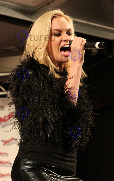 X Factor's  Kitty Brucknell, Bernie Nolan and Leanne Jones perform at and helps switch on Stevenage Christmas Lights, Stevenage, Herts - November 17th 2011....Photo by Jill Mayhew
