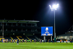 The Final score on the scoreboard after Worcester Cavaliers beat Wasps A - Mandatory by-line: Robbie Stephenson/JMP - 16/12/2019 - RUGBY - Sixways Stadium - Worcester, England - Worcester Cavaliers v Wasps A - Premiership Rugby Shield
