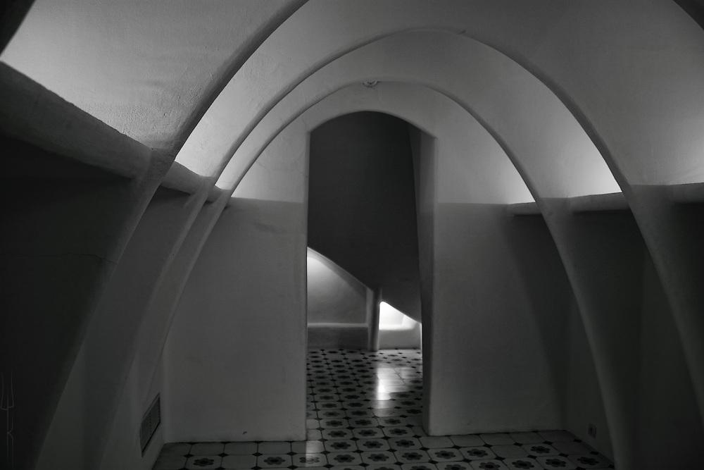 View of the uppermost floor of Casa Batllo, Barcelona.