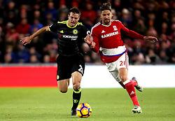 Gaston Ramirez of Middlesbrough takes on Cesar Azpilicueta of Chelsea - Mandatory by-line: Robbie Stephenson/JMP - 20/11/2016 - FOOTBALL - Riverside Stadium - Middlesbrough, England - Middlesbrough v Chelsea - Premier League